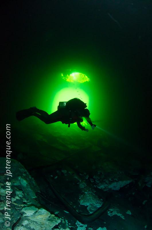Budgie Burgess in Calaverde Cenote